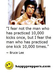 Bruce Lee quote on self Defense