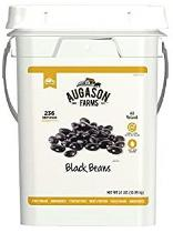 24-lbs bucket of Augason Farms black beans