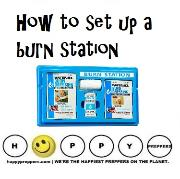 How to set up a burn station
