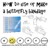 How to use or make a butterfly bandage