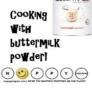 Cooking with buttermilk powder