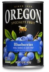 Oregon canned blueberries