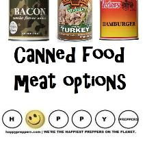 Canned Food meat options