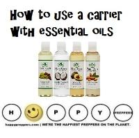 How to use a carrier with essential oils