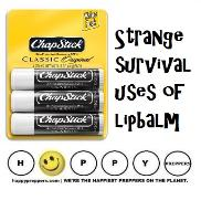 Strange survival uses of chapstick