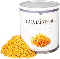Nutristore Freeze-Dried Cheddar Cheese