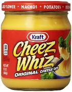 Cheez Whiz in a jar