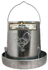 Galvanized free range chicken feeder