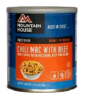 Mountain House #10 can of chili mac