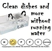 How to clean without running water
