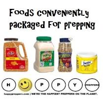 Foods conveniently packaged for prepping