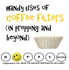 Handy uses of coffee filters in prepping and beyond