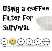 Using a Coffee Filter for Survival