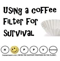 how to use a coffee filter for survival