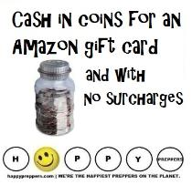 How to cash in coins for an Amazon Gift card