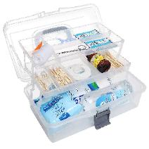 Clear storage box for your college emergency kit