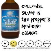 Colloidal siver in the prepper's medicine cabinet