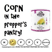 Stockpile corn in the prepper's pantry