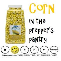 Corn in the prepper's pantry