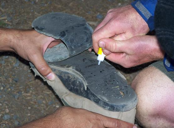 Crazy Glue to repair shoes isn't instant! You'll need duct tape or a shoe lace to help you get your destination.