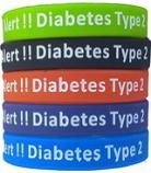 Type 2 Diabetes rubber bracelet
