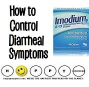 How to control diarrheal symptoms