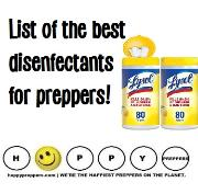 List of the best disinfectants for preppers