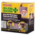 Double Doodie Sanitation bags for Luggable Loo