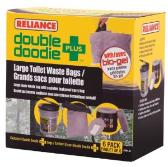 Double Doodie Sanitation bags for Luggable Loo six-pack