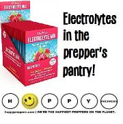 Electrolytes in the prepper's pantry