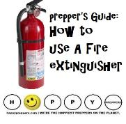Prepper's guide on how to use a fire extinguisher