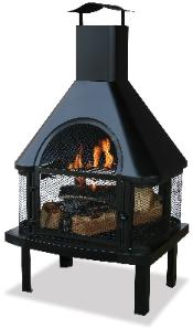 Fireplace firepit with chimney