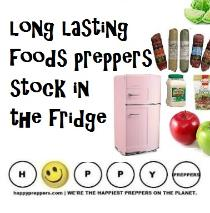 Long lasting foods preppers stock in the fridge
