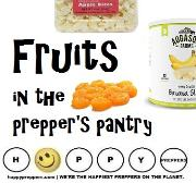 Fruit in the prepper's pantry