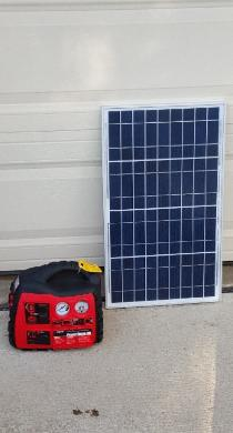 Solar generator with charger