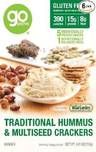 Go picnic hummus and multiseed crackers