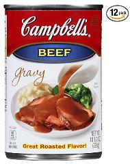 Campbells beef gravy ~ pack of 12