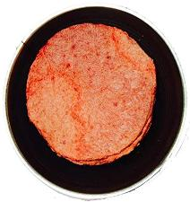 Yoders freeze dried hamburger in a can