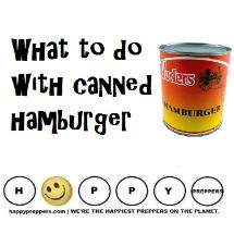 What to do with canned hamburger