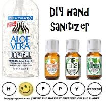 How to make nautral hand sanitizers.