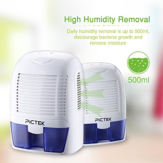 Humidity removal with Pictek dehumidifier
