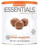 freeze dried Italian meatballs