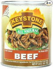 Large can Keystone Beef