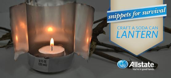 Allstate Blog shows you how to make a survival lantern