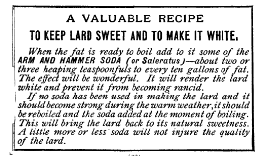 how to make lard: a valuable recipe by arm and hammer