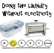 Doing the laundry without electricity - off grid washing machines