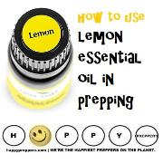 How to use lemon essential oil in prepping