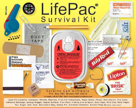Life-pack survoival tin