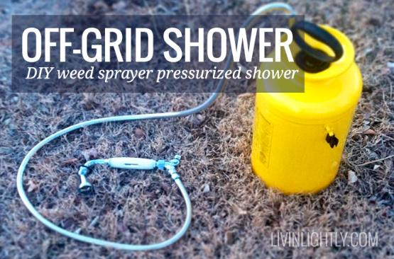 Weed sprayer shower