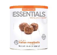 Freeze dried meatballs in #10 can